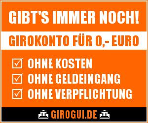 Girokonto für null Euro