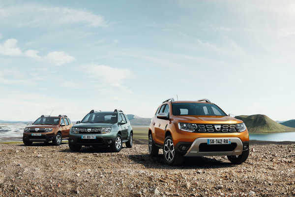 Dacia Duster 2010, Facelift 2013, zweite Generation 2018