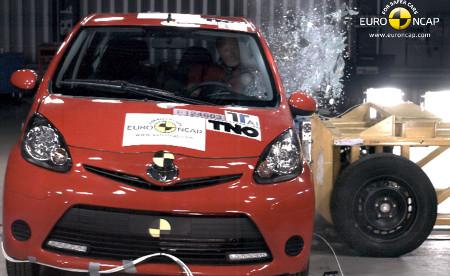 Toyota Aygo 2012 im Euro NCAP Crashtest
