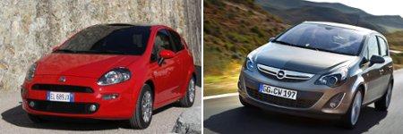 Fiat Punto III und Opel Corsa D