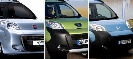 Fiat Qubo, Peugeot Bipper & Citroen Nemo