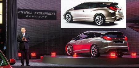 Honda Civic Tourer Concept Genfer Autosalon 2013