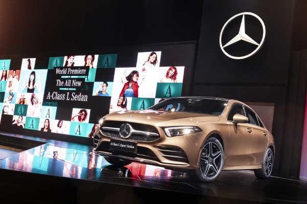 Mercedes A-Klasse L Limousine Auto China Peking 2018