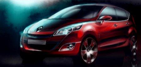 Renault Scenic III Design Sketch
