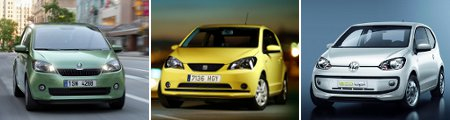 Skoda Citigo, Seat Mii und VW Up