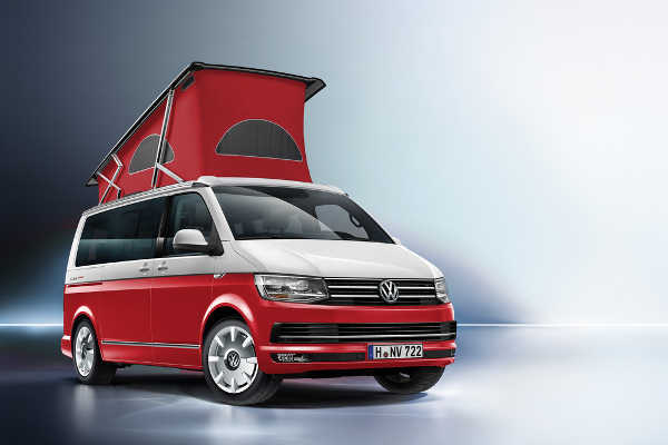 VW California Ocean Red Sondermodell 2016
